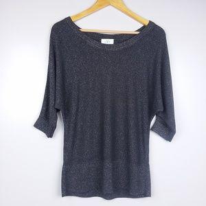 Ann Taylor Loft Gray Sparkle Sweater